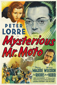 "Mysterious Mr. Moto (20th Century Fox, 1938). One Sheet (27"" X 41"")"