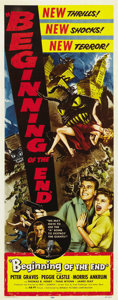 "Movie Posters:Science Fiction, Beginning of the End (Republic, 1957). Insert (14"" X 36""). ..."
