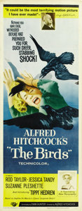 "Movie Posters:Hitchcock, The Birds (Universal, 1963). Insert (14"" X 36"")...."