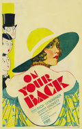 "Movie Posters:Drama, On Your Back (Fox, 1930). Window Card (14"" X 22""). ..."