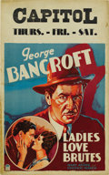 """Movie Posters:Comedy, Ladies Love Brutes (Paramount, 1930). Window Card (14"""" X 22""""). ..."""