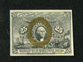 Fractional Currency:Second Issue, Fr. 1286 25c Second Issue Gem New. Even though the side margins bow inward towards the top all of the other technical merits...