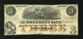 Obsoletes By State:Iowa, Dubuque, IA- The Lumbermen's Bank $3 Sep. 1, 1857 Oakes 55-3a. Avery attractive and interesting R3 note with nice vignettes...