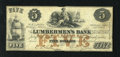 Obsoletes By State:Iowa, Dubuque, IA- The Lumbermen's Bank $5 Sep, 1, 1857 Oakes # 55-4. This would make a neat set with the other two notes from her...