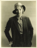"Movie/TV Memorabilia:Photos, Marlene Dietrich Vintage Photo by Eugene Richée. An attractiveb&w 11"" x 14"" photo portrait of Dietrich, shot by legendarys..."