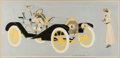 Mainstream Illustration, CLARENCE COLES PHILLIPS (American, 1880-1927). Model 20 HudsonMotor Car, ad illustration. Gouache on board. 16 x 33.5 i...
