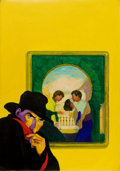 Pulp, Pulp-like, Digests, and Paperback Art, GEORGE ROZEN (American, 1895-1974). The Third Skull, The Shadowpulp cover, March 15, 1935. Oil on canvas. 30 x 21in.. N...