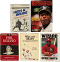 Autographs:Others, Hall Of Fame Hitters Signed Books Lot of 5....