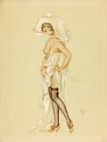 Pin-up and Glamour Art, ALBERTO VARGAS (American, 1896-1982). Shirley Vernon --Ziegfield Follies Star, 1924. Watercolor on board. 18 x 13.5in....