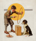 Mainstream Illustration, FREDERIC STANLEY (American, 1892-1967). Tempting Fido, SaturdayEvening Post cover cover, July 11, 1931. Oil on canvas. ...