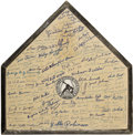 Autographs:Others, Negro League Signed Home Plate....