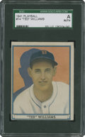 Baseball Cards:Singles (1940-1949), 1941 Play Ball Ted Williams #14 SGC Authentic....