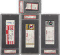 Baseball Collectibles:Tickets, 1989-1993 Nolan Ryan Career Highlights Tickets Lot of 4.... (Total:4 items)