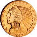 Indian Half Eagles, 1913-S $5 MS65 NGC....