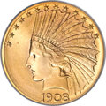 Indian Eagles, 1908-S $10 MS68 PCGS....