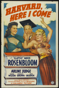 "Harvard, Here I Come! (Columbia, 1941). One Sheet (27"" X 41""). Comedy"