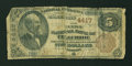 National Bank Notes:Colorado, Telluride, CO - $5 1882 Brown Back Fr. 470 The First NB Ch. # 4417. ...