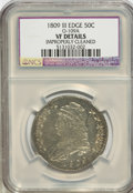 Bust Half Dollars, 1809 50C III Edge--Improperly Cleaned--VF20 NGC. VF20 Details.O-109A. (#6094)...