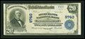 National Bank Notes:West Virginia, Montgomery, WV - $20 1902 Plain Back Fr. 653 The Merchants NB Ch. #9740. ...