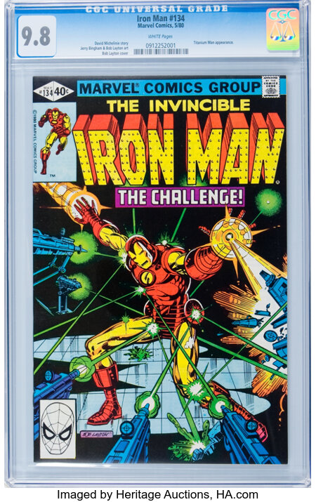 Iron Man #134 (Marvel, 1980) CGC NM/MT 9.8 White pages....