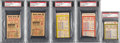 Baseball Collectibles:Tickets, 1941 World Series Ticket Stubs Lot of 5.... (Total: 5 items)