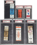 Baseball Collectibles:Tickets, 1983-2004 300 Win Full Tickets & Stubs Lot of 6.... (Total: 6items)