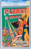 Golden Age (1938-1955):Science Fiction, Planet Comics #59 (Fiction House, 1949) CGC VF- 7.5 Off-white towhite pages....