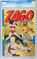 Golden Age (1938-1955):Adventure, Zago #1 (Fox Features Syndicate, 1948) CGC FN+ 6.5 Off-white towhite pages....