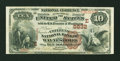 National Bank Notes:Pennsylvania, Waynesboro, PA - $10 1882 Brown Back Fr. 490 The Citizens NB Ch. #(E)5832. ...