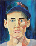Baseball Collectibles:Others, Ted Williams Painting....