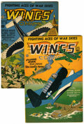 Golden Age (1938-1955):War, Wings Comics #46 and 48 Group (Fiction House, 1944) Condition:Average FN.... (Total: 2 Comic Books)