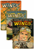 Golden Age (1938-1955):War, Wings Comics Group (Fiction House, 1942-43) Condition: AverageVG-.... (Total: 4 Comic Books)
