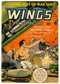 Golden Age (1938-1955):War, Wings Comics #29 (Fiction House, 1943) Condition: VG/FN....