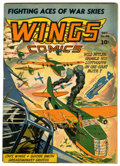 Golden Age (1938-1955):War, Wings Comics #40 (Fiction House, 1943) Condition: FN....