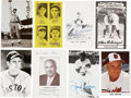 Autographs:Post Cards, Baseball Legends and Hall of Famers Signed Postcards Lot of 16....