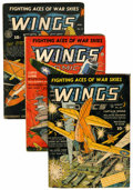 Golden Age (1938-1955):War, Wings Comics #24 and 31-33 Group (Fiction House, 1942-43)Condition: Average VG.... (Total: 4 Comic Books)