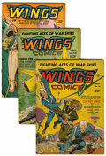 Golden Age (1938-1955):War, Wings Comics Group (Fiction House, 1942-53) Condition: AverageGD/VG.... (Total: 7 Comic Books)