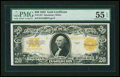 Large Size:Gold Certificates, Fr. 1187 $20 1922 Gold Certificate PMG About Uncirculated 55EPQ....