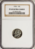 Proof Roosevelt Dimes: , 1956 10C PR69 Ultra Cameo NGC. NGC Census: (12/0). PCGS Population(1/0). Numismedia Wsl. Price for NGC/PCGS coin in PR69:...