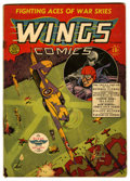 Golden Age (1938-1955):War, Wings Comics #2 (Fiction House, 1940) Condition: VG-....