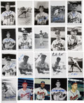 Autographs:Others, Braves Baseball Signed Images Lot of 74. ...