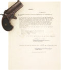 """Military & Patriotic:WWII, Remington .41 Caliber Rimfire """"Double Derringer"""" Taken from thePerson of one John Herbert Dillinger when arrested in Tucson...(Total: 2 Items)"""