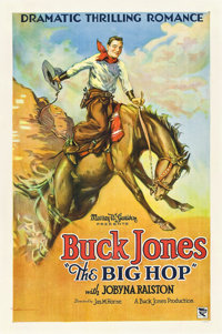 "The Big Hop (Buck Jones Productions, 1928). One Sheet (27"" X 41"")"