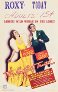 "Movie Posters:Comedy, The Awful Truth (Columbia, 1937). Window Card (14"" X 22"").. ..."