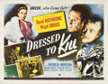 "Movie Posters:Mystery, Dressed to Kill (Universal, 1946). Half Sheet (22"" X 28"").. ..."