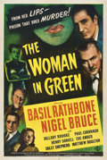 "Movie Posters:Mystery, The Woman in Green (Universal, 1945). One Sheet (27"" X 41"").. ..."