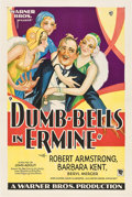 "Movie Posters:Comedy, Dumb-Bells in Ermine (Warner Brothers, 1930). One Sheet (27"" X 41"") Style B.. ..."