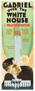 "Movie Posters:Fantasy, Gabriel Over the White House (MGM, 1933). Insert (14"" X 36"").. ..."