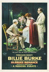 "Gloria's Romance (K-E-S-E Service, 1916). One Sheet (28.25"" X 42"") ""A Modern Pirate."""