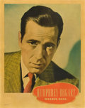 """Movie Posters:Miscellaneous, Humphrey Bogart Personality Poster (Warner Brothers, Late 1930s). Poster (22"""" X 28"""").. ..."""